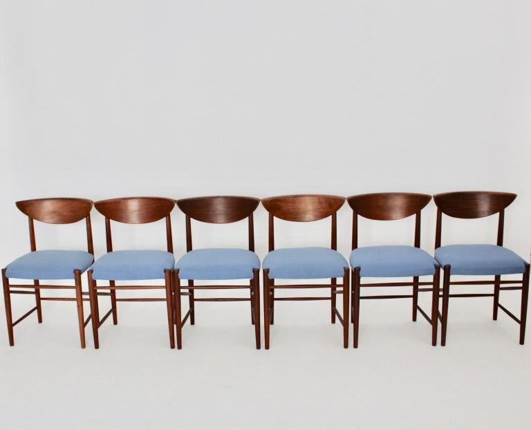 Scandinavian Modern Six Vintage Teak Dining Chairs Peter Hvidt, Denmark In Good Condition For Sale In Vienna, AT