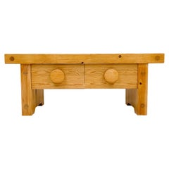Scandinavian Modern Solid Pine Bench by Fröseke, Furniture Maker in Sweden,1970s