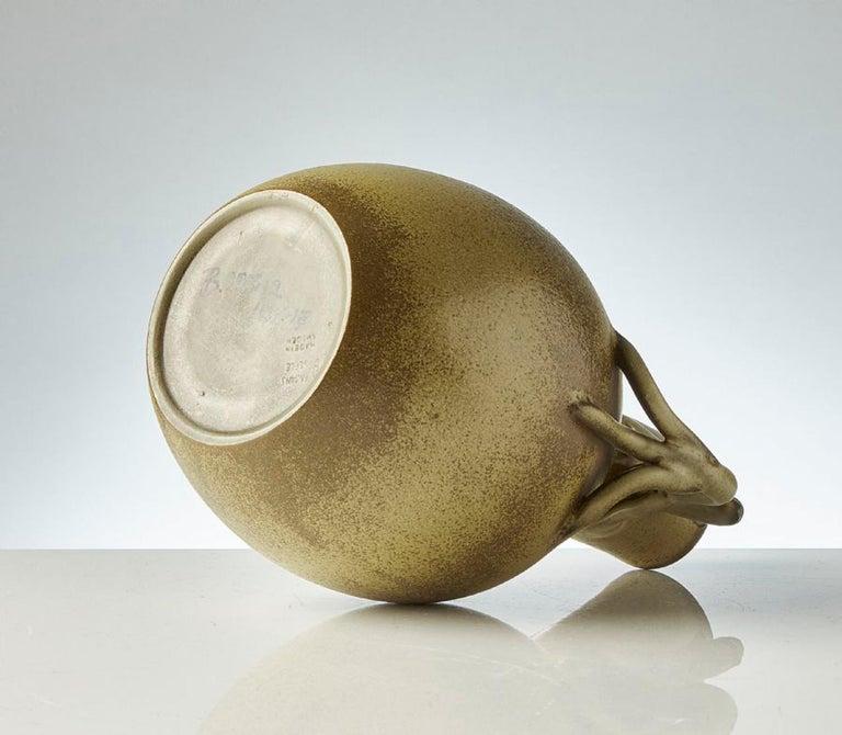 Mid-20th Century Scandinavian Modern Speckled Vase with Handles, Ewald Dahlskog for Bo Fajans For Sale