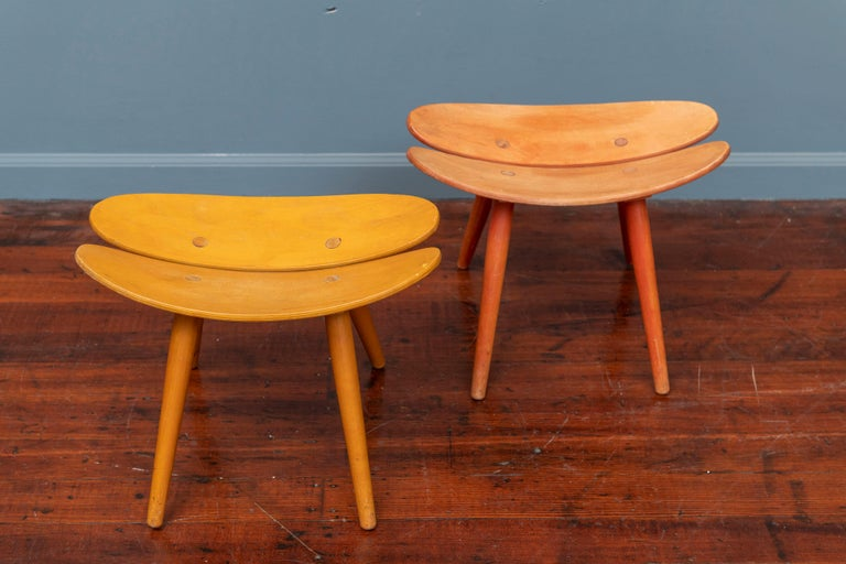 Scandinavian Modern Stools In Fair Condition For Sale In San Francisco, CA