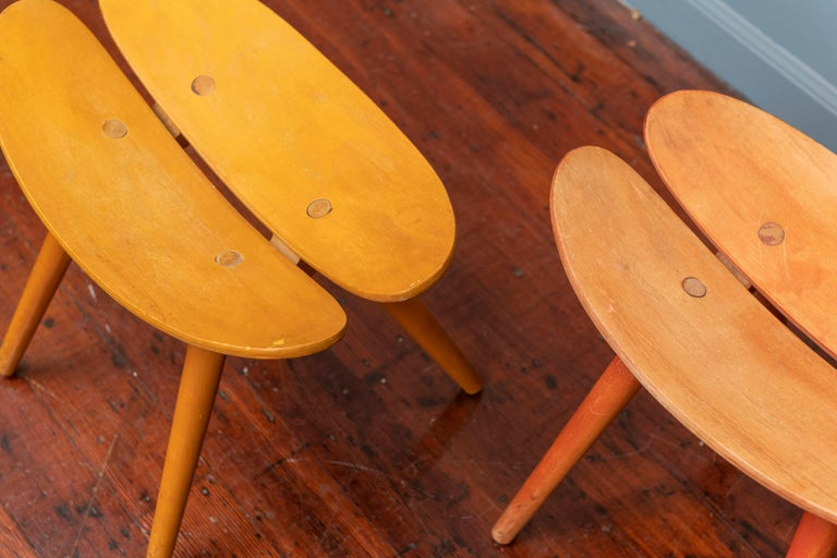 Mid-20th Century Scandinavian Modern Stools For Sale