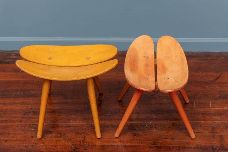 Scandinavian Modern Stools For Sale 2