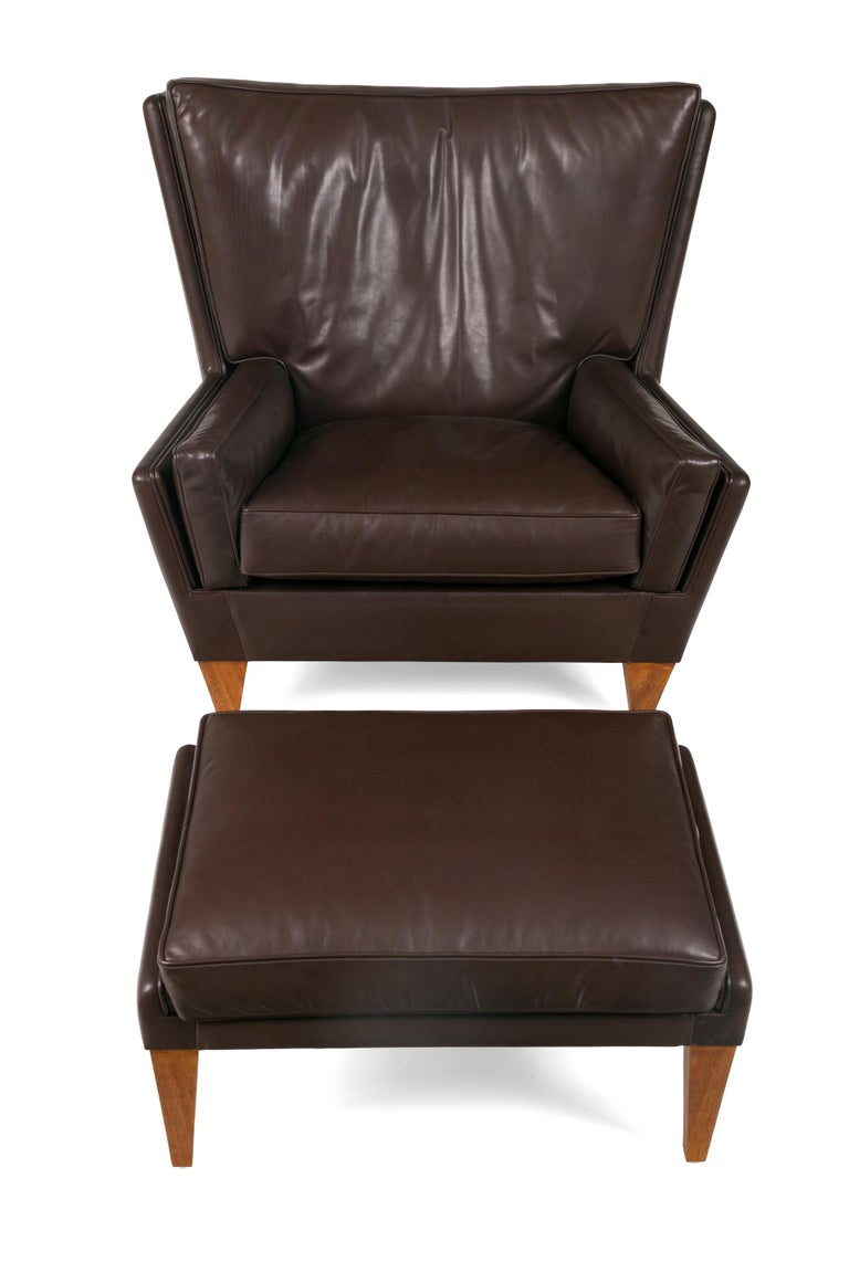 An enormously comfortable chair based on an iconic design. This example is done in a sumptuous leather (not included) and can be ordered in customers own material (C.O.M).