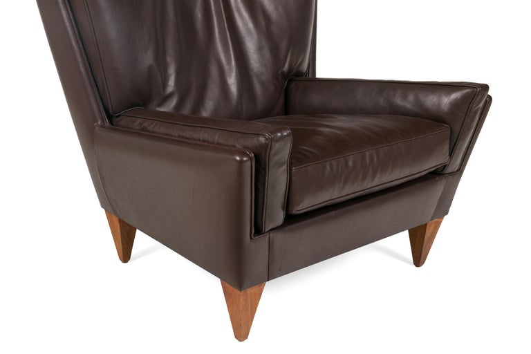 Contemporary Scandinavian Modern Style Lounge Chair and Ottoman by Lost City Arts For Sale