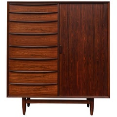 Scandinavian Modern Sven Madsen Tall Chest for Falster Mobelfabrik