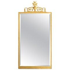 Scandinavian Modern Swedish Grace, Art Deco Giltwood Mirror