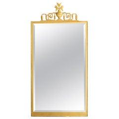 Scandinavian Modern, Swedish Grace, Art Deco Giltwood Mirror