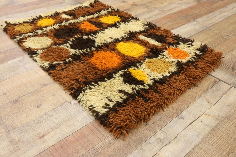 Wool Scandinavian Modern Swedish Vintage Ege Rya Shag Rug, Danish Design Tapestry For Sale