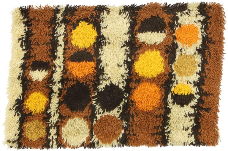 Scandinavian Modern Swedish Vintage Ege Rya Shag Rug, Danish Design Tapestry For Sale 3