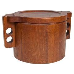 Scandinavian Modern Tableware Large Ice Bucket by Birgit Krogh for Woodline 1979