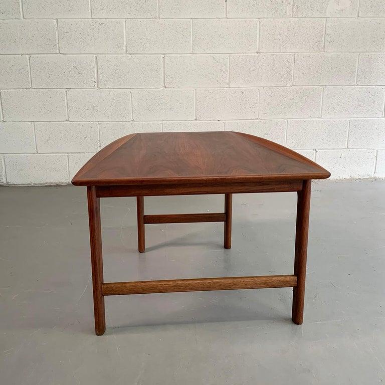 Scandinavian Modern Tapered Teak Side Table by Folke Ohlsson for DUX For Sale 1
