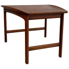 Scandinavian Modern Tapered Teak Side Table by Folke Ohlsson for DUX