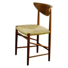 Scandinavian Modern Teak and Cane Dining Chair by Peter Hvidt for Soborg