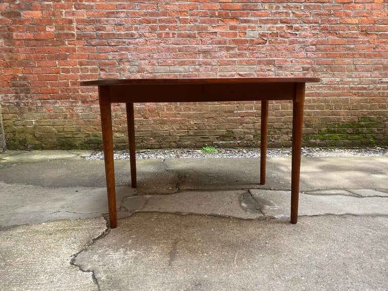 Veneer Scandinavian Modern Teak and Oak Dining Table For Sale
