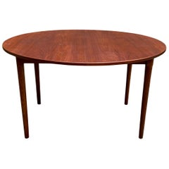 Scandinavian Modern Teak and Oak Dining Table