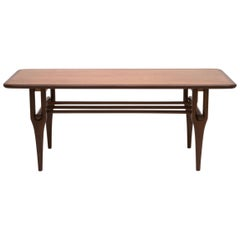 Scandinavian Modern Teak and Walnut Coffee Table