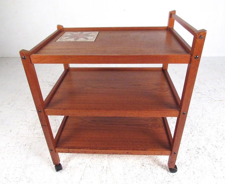 7e240a401328 Scandinavian Modern Teak Bar Cart For Sale at 1stdibs