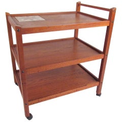 Scandinavian Modern Teak Bar Cart