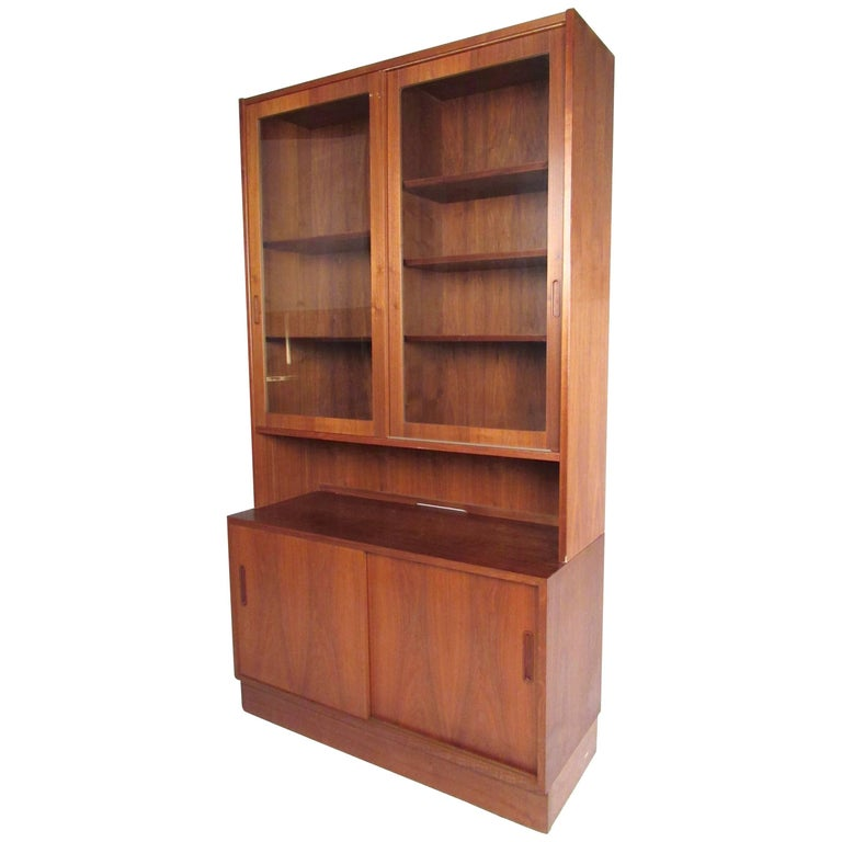 Scandinavian Modern Teak China Cabinet For Sale At 1stdibs
