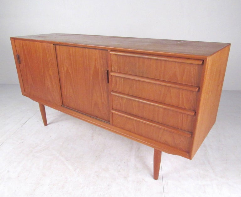 Danish Teak Credenza For Sale : Scandinavian modern teak credenza by falster for sale at 1stdibs
