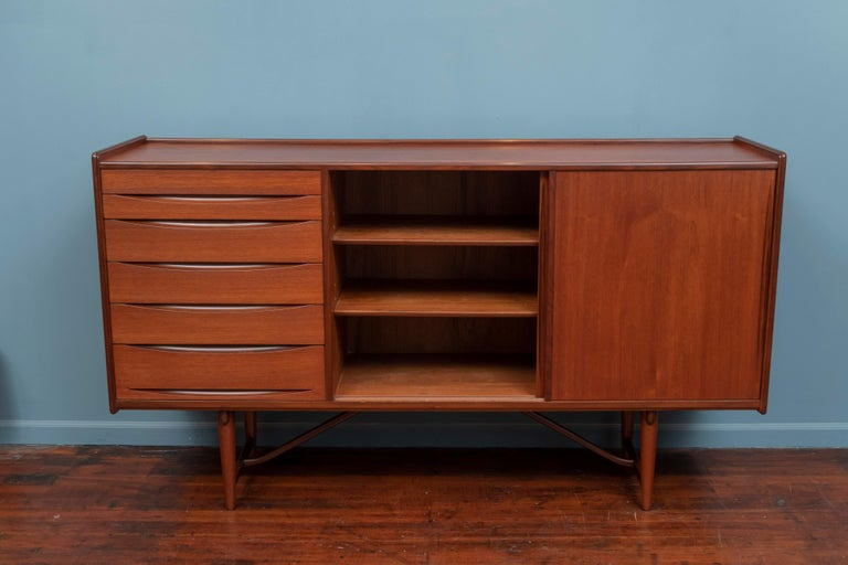 Scandinavian Modern Teak Credenza In Good Condition For Sale In San Francisco, CA