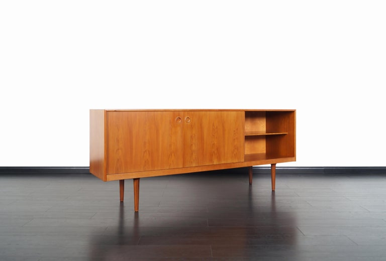 Mid-20th Century Norwegian Modern Teak Credenza by Alf Aarseth For Sale