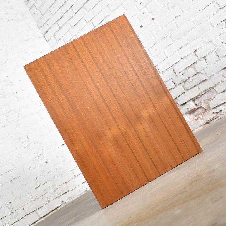 Scandinavian Modern Teak Flip Open Make Up Vanity w/ Mirror Jesper International For Sale 11