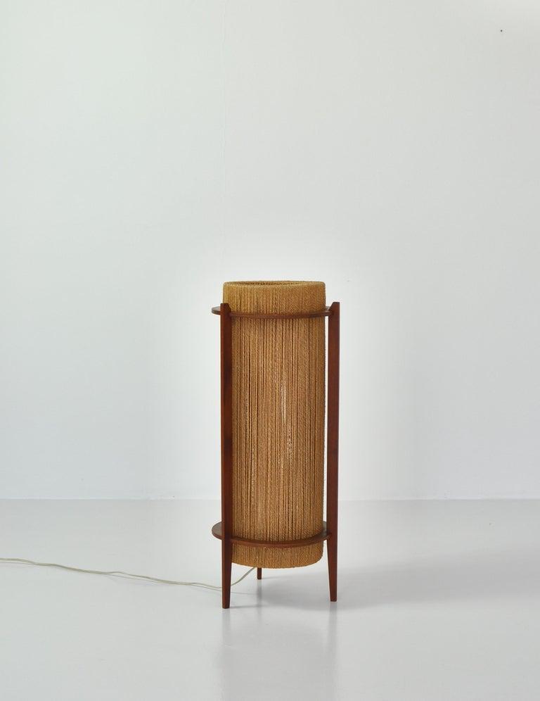 Scandinavian Modern Teak Floor Lamp by Ib Fabiansen for Fog & Mørup, 1960s For Sale 4