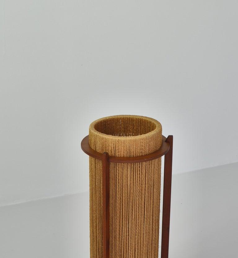 Danish Scandinavian Modern Teak Floor Lamp by Ib Fabiansen for Fog & Mørup, 1960s For Sale