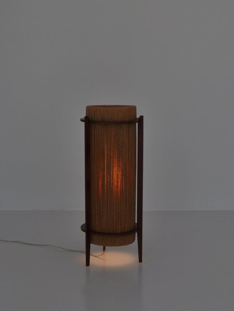 String Scandinavian Modern Teak Floor Lamp by Ib Fabiansen for Fog & Mørup, 1960s For Sale