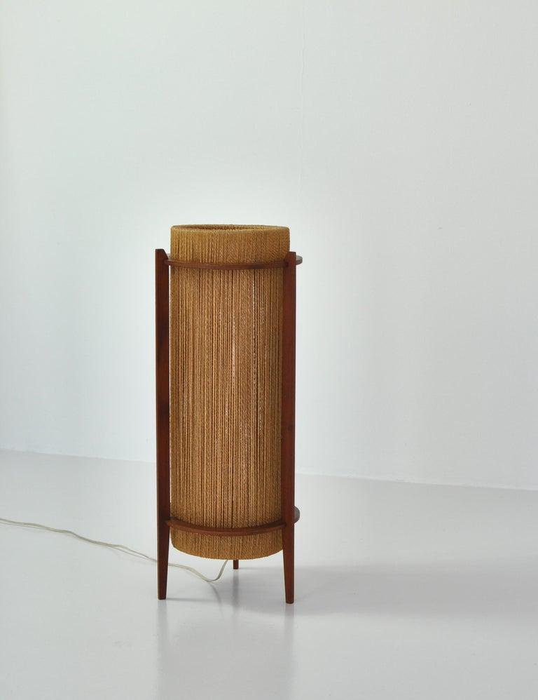 Scandinavian Modern Teak Floor Lamp by Ib Fabiansen for Fog & Mørup, 1960s For Sale 1