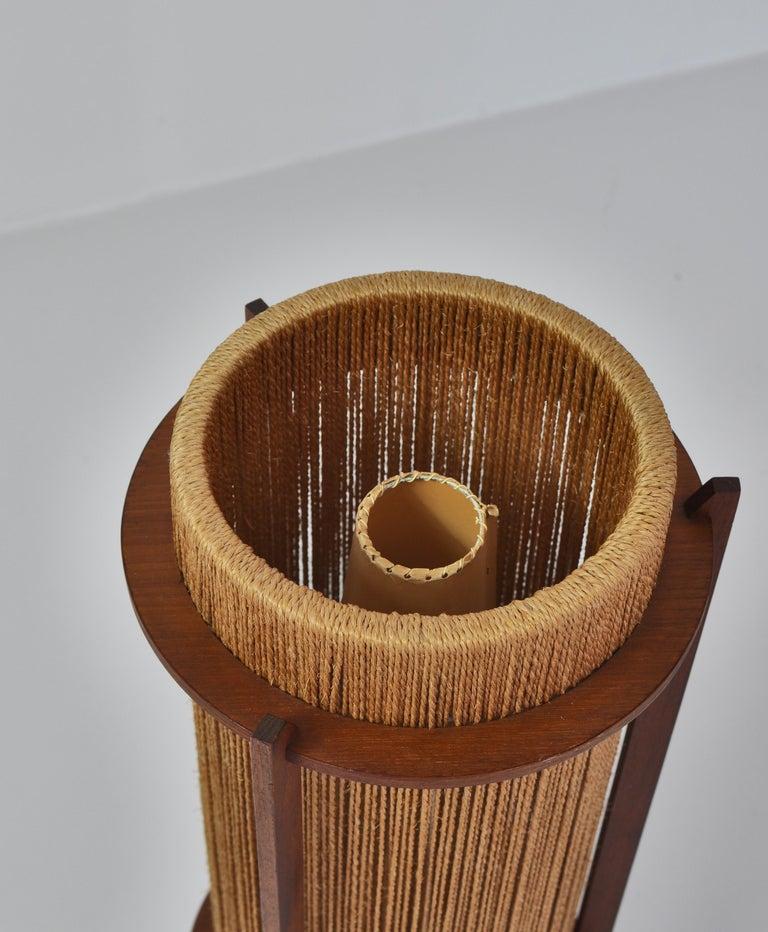 Scandinavian Modern Teak Floor Lamp by Ib Fabiansen for Fog & Mørup, 1960s For Sale 2