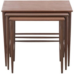 Scandinavian Modern Teak Nesting Table Set