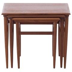 Scandinavian Modern Teak Nesting Table Set