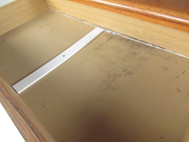 Scandinavian Modern Teak Roll Top Desk For Sale 12