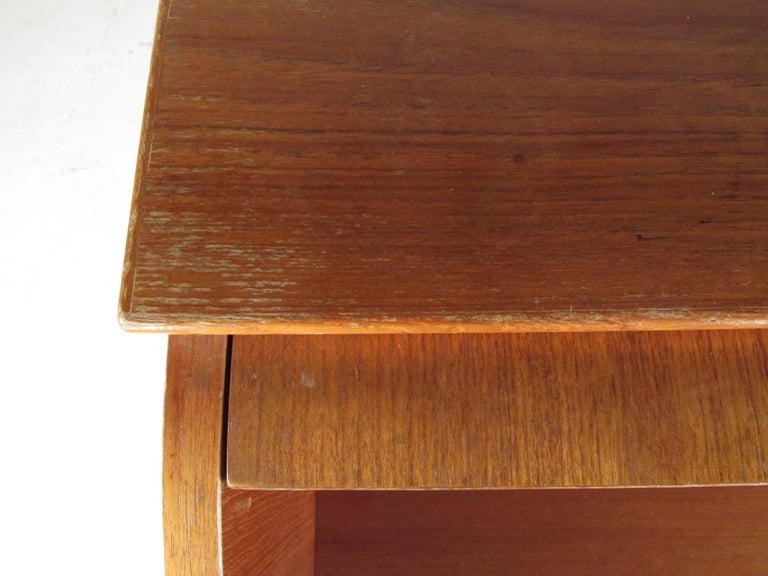 Scandinavian Modern Teak Roll Top Desk For Sale 14