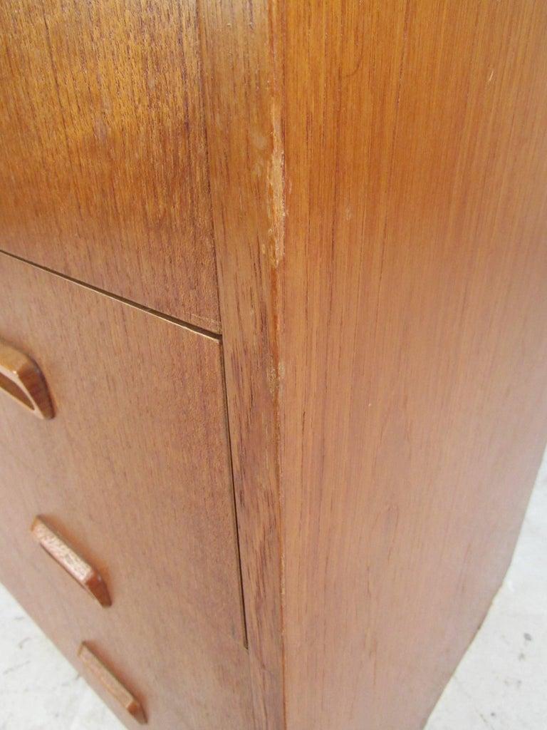 Scandinavian Modern Teak Roll Top Desk For Sale 16