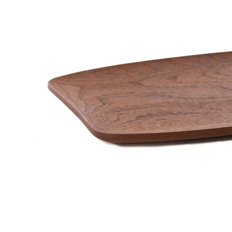 20th Century Scandinavian Modern Teak Sculptural Tray For Sale