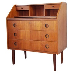 Scandinavian Modern Teak Secretaire, Chest of Drawers, 1970s