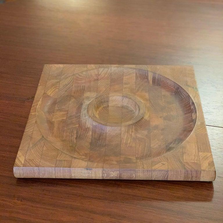 Danish Scandinavian Modern Teak Serving Board Platter by Jens Quistgaard, Dansk For Sale