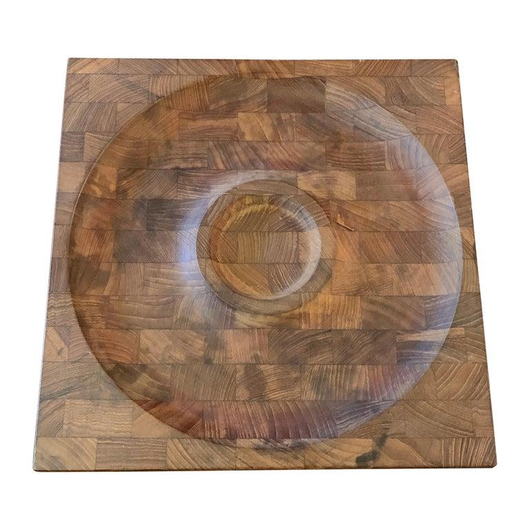 Scandinavian Modern Teak Serving Board Platter by Jens Quistgaard, Dansk For Sale