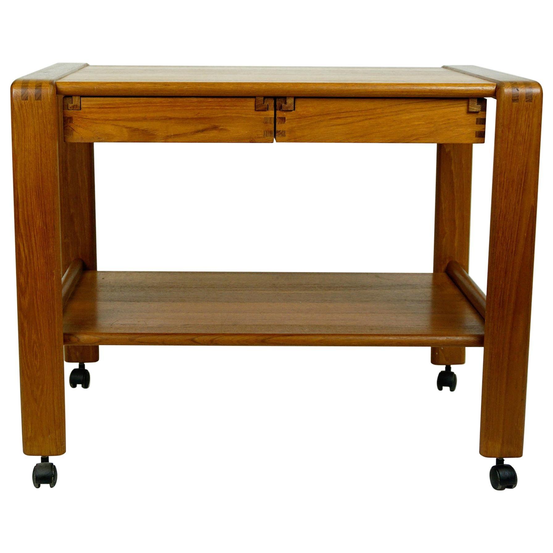Scandinavian Modern Teak Serving Table or Bar Cart