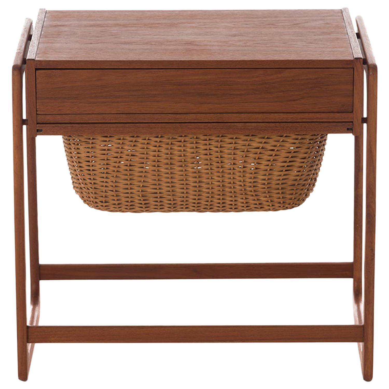 Scandinavian Modern Teak Sewing Table