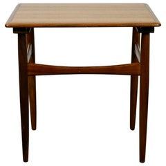 Scandinavian Modern Teak Side Table by Poul Hundevad