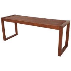 Scandinavian Modern Teak Side Table, Denmark, 1960's