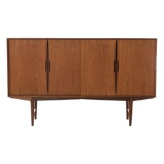 Scandinavian Modern Teak Sliding Door Credenza or Sideboard