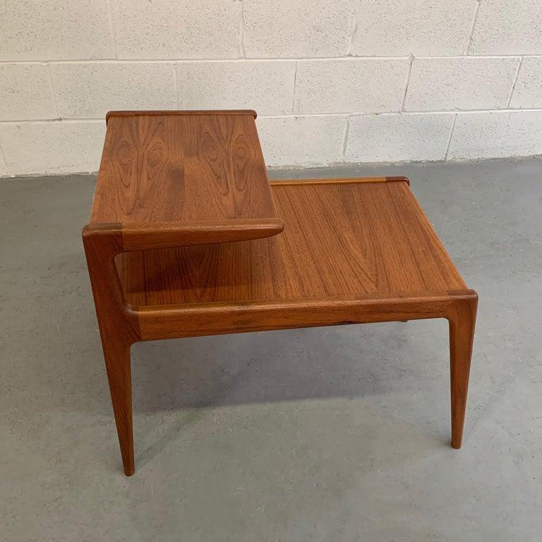 Scandinavian Modern Teak Stepped Side Table For Sale 3