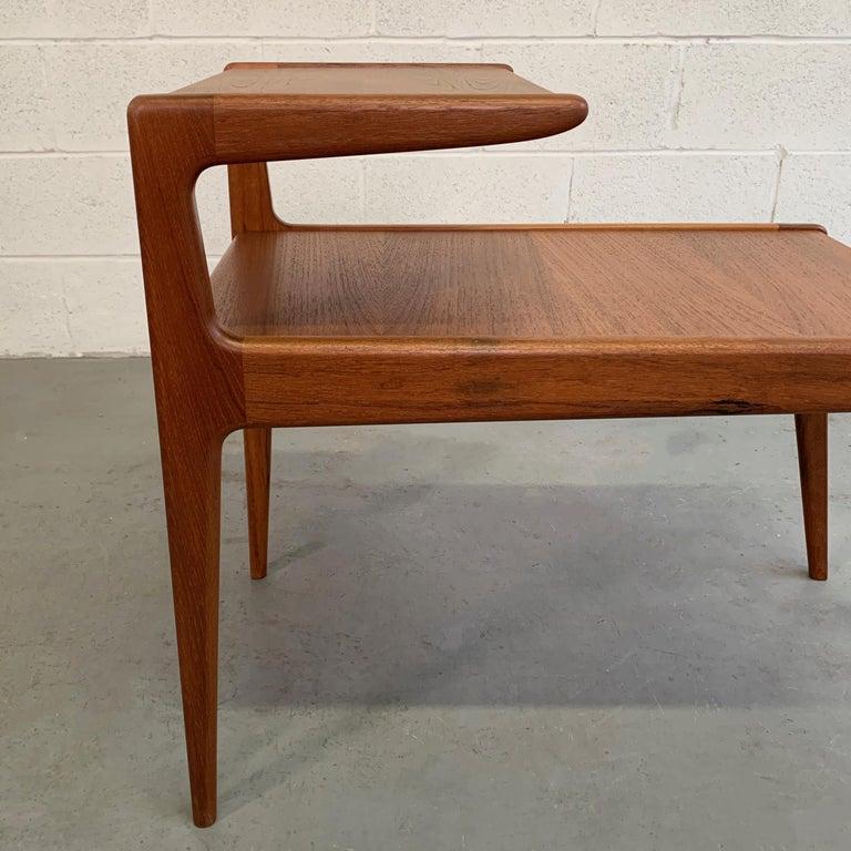 Scandinavian Modern Teak Stepped Side Table For Sale 4