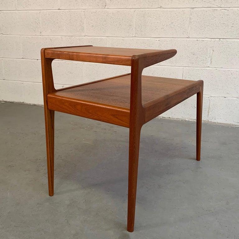 Scandinavian Modern Teak Stepped Side Table For Sale 5