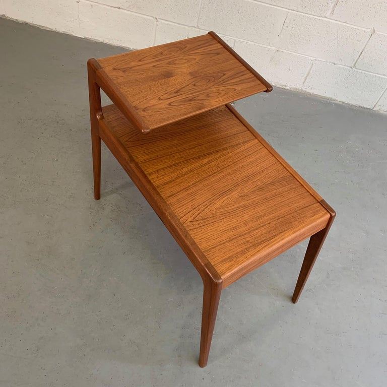 Scandinavian Modern Teak Stepped Side Table For Sale 6
